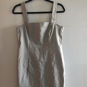 Olive striped dress